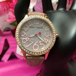 Betsey Johnson Shimmer Face Fashion Watch